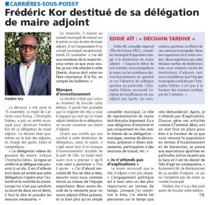 """""""Le Courrier des Yvelines"""" (23.11.2016)"""